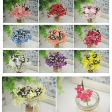60pcs/lot 1.5cm  New Arrival Mini Cherry Artificial Silk Baby Breath Flowers Bouquet ,Table Arrangements Stamen Cheap flower