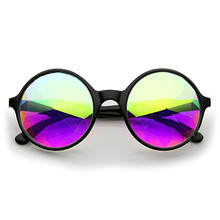 Free Shipping,1pcs Promotion kaleidoscope glasses factory crystal lens kaleidoscope sunglasses party glasses,rave 3d glasses(China)