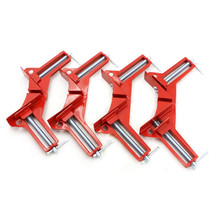 4PCS Rugged 90 Angle clip DIY Corner Clamps quick fixed fishtank glass wood picture frame Woodwork Right Angle Red