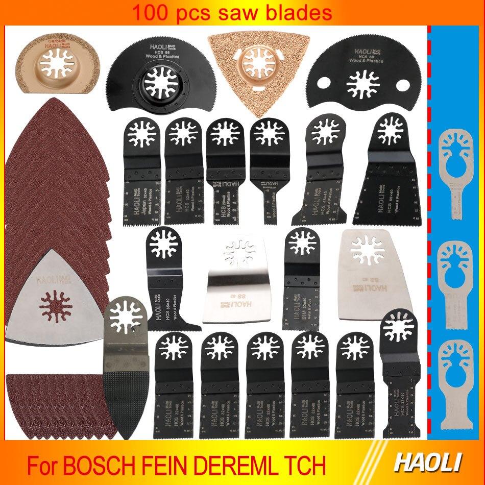 100 pcs oscillating multi tool saw blades for renovator power tools as Fein multimaster,Dremel,wood metal cutting,free shipping<br><br>Aliexpress