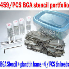 459 pcs Bga Reballing Stencil direct heating reballing station + BGA solder ball Free shipping(China)