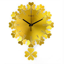 Large Designer Wall Clock Mechanism Home Watch Wrought Iron Wall Decorations Horloges Murales Livingroom Pendulum Clock QQN252(China)