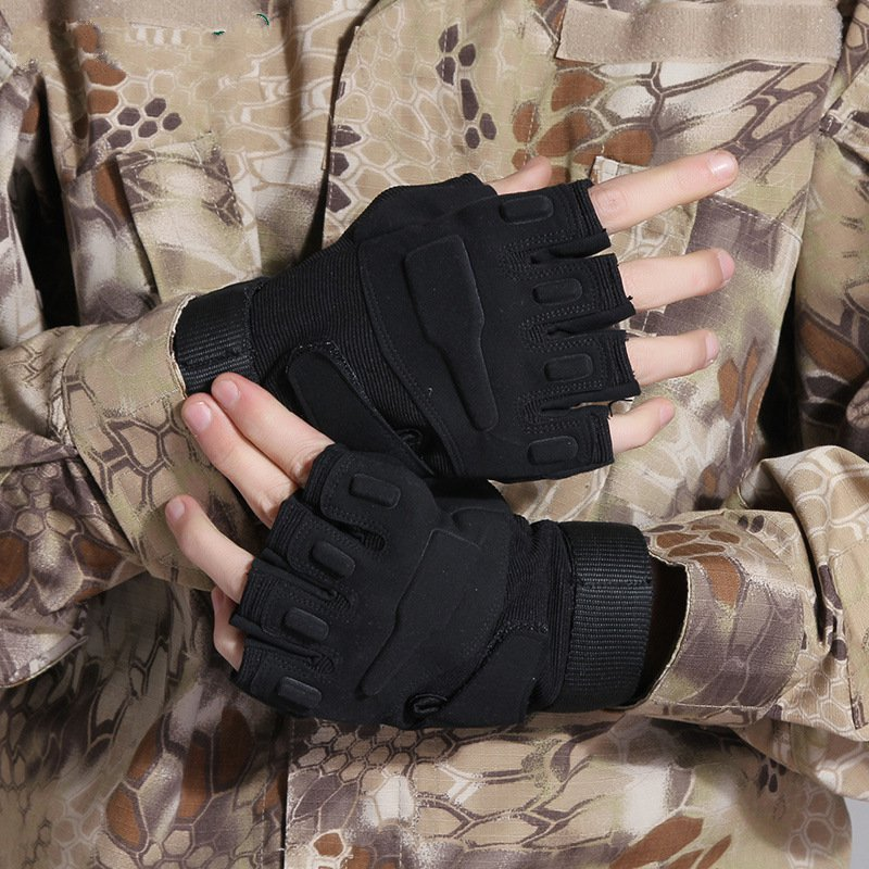Outdoor male half-finger gloves, mountain climbing cut-resistant thin Black Hawk Tactical Fighting<br><br>Aliexpress