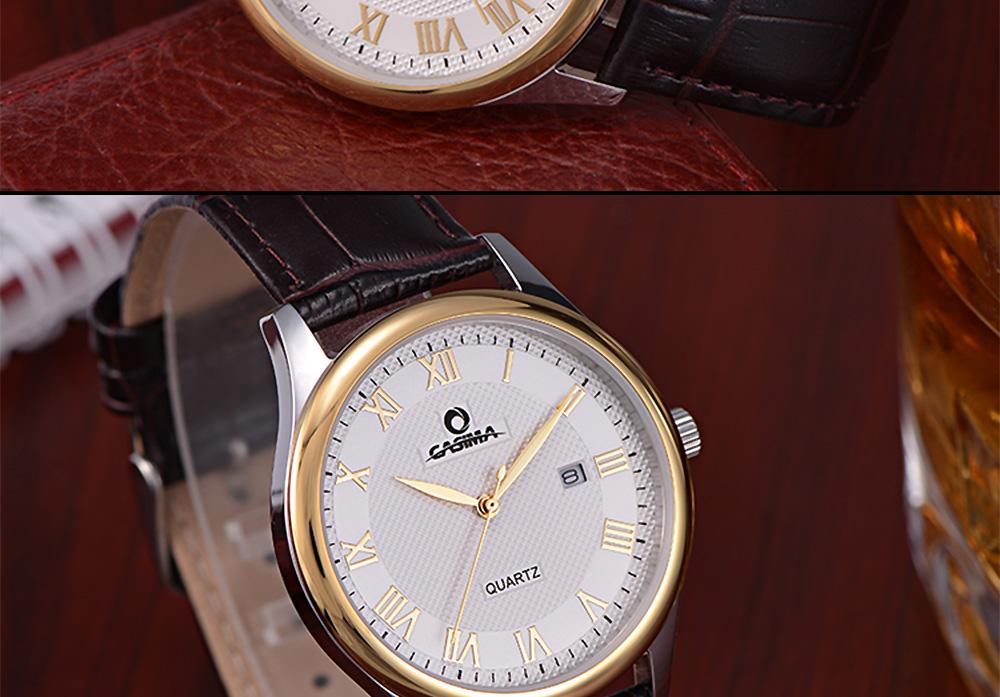 ساعة يد رجالية جلد 10
