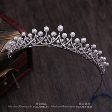 Fabulous Simple Wave Leaf Cute Gorgeous Spain Royal Tiaras And Crowns All Zirconia Zircon Big CZ For Kids Girl Wedding Gift(China)