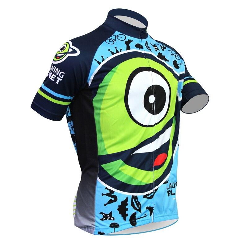 2017 bike jerseys Cartoon Laughin Plane Cafe Alien SportsWear Mens Cycling Jersey Cycling Clothing Bike Shirt Size new<br><br>Aliexpress