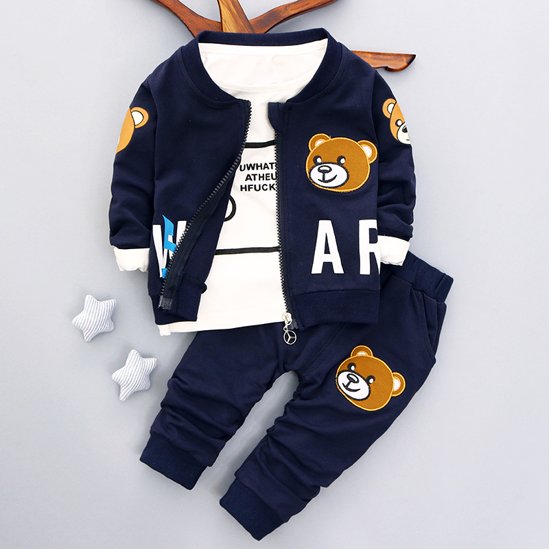 Brand new baby boys clothing set Autumn 2017 fashion style cotton coat with pants baby clothes A082<br><br>Aliexpress
