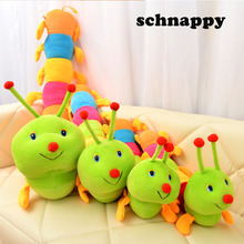 1PC 50cm Lovely Inchworm Toy Soft Plush Caterpillars Hold Pillow Doll Toys For Children Baby&Kid Plush Toys