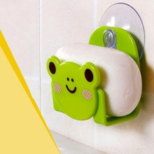 Carton Dish Cloth Sponge Holder With Suction Cup Rack Home Decor Suction Cup Mini Bathroom Shelves Soap Holder Drop Shipping(China)