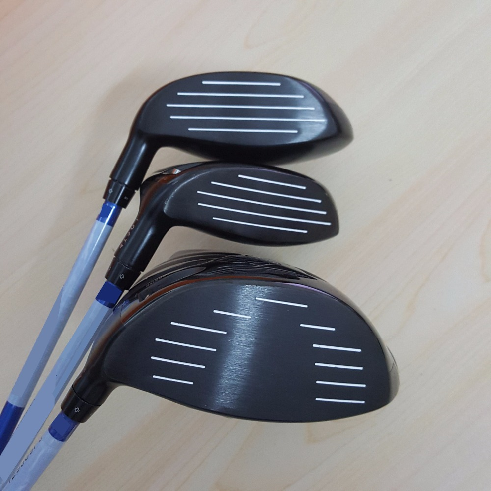 graphite golf club driver +fairways wood golf 3PCS hybrids regular and stiff 9/9.5/10.5 for G30/M1/M2/R15/917D2/iv hi golf club(China)