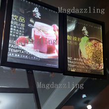 SLIM A1 CLIP SNAP FRAME LED MENU BOARD DISPLAY SYSTEM -ILLUMINATED MENU DISPLAY LIGHT BOX(China)