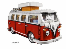 Classic creator idea car-styling Volkswagen Micro bus MPV T1 Camper Van building block model lepins brick 10220 toy for children