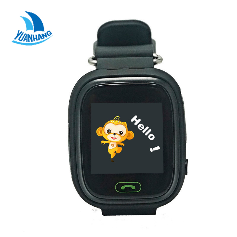 Q90 1.22 HD Touch Screen Smart SOS Call Safe GPS LBS Location Finder Tracker Anti Lost Monitor for Kid Child Watch Wristwatch(China (Mainland))