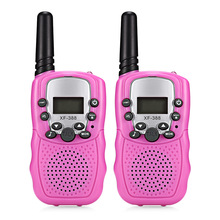2018 Baby Monitor XF - 388 2pcs Children Walkie Talkies 2-Way Radio 3KM Range 8 Channels With Adjustable Volume Levels(China)