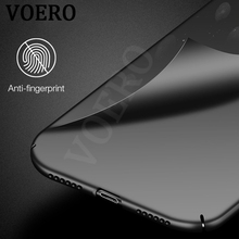 VOERO Luxury Hard Plastic Matte Full Protective Case For iPhone X 6 7 Plus Original Cases Cover For iPhone 7 6s Plus 5S SE Case(China)