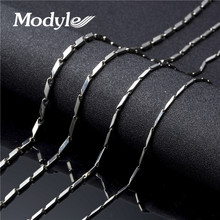 Modyle 2017 New 2/3/4mm 18-24inch Mens Boys Girls Silver-Color Tone Link Necklace Stainless Steel Chain Gift Wholesale Price(China)