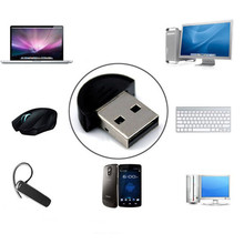 Mini USB Bluetooth V2.0 Dongle Adapter for Laptop PC Win Xp Win7 8 iPhone 4GS 5GS Headset networking LAN access(China)