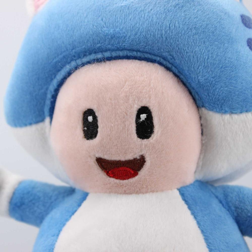 Blue toad plush