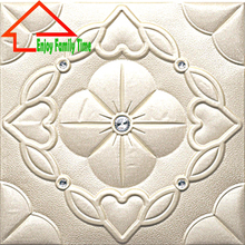 3D PU Leather Wall Panel New Design Wall Sticker With Stone for Bedroom Europe 3D Soild Leather Wall Panel for Decorative Office(China)