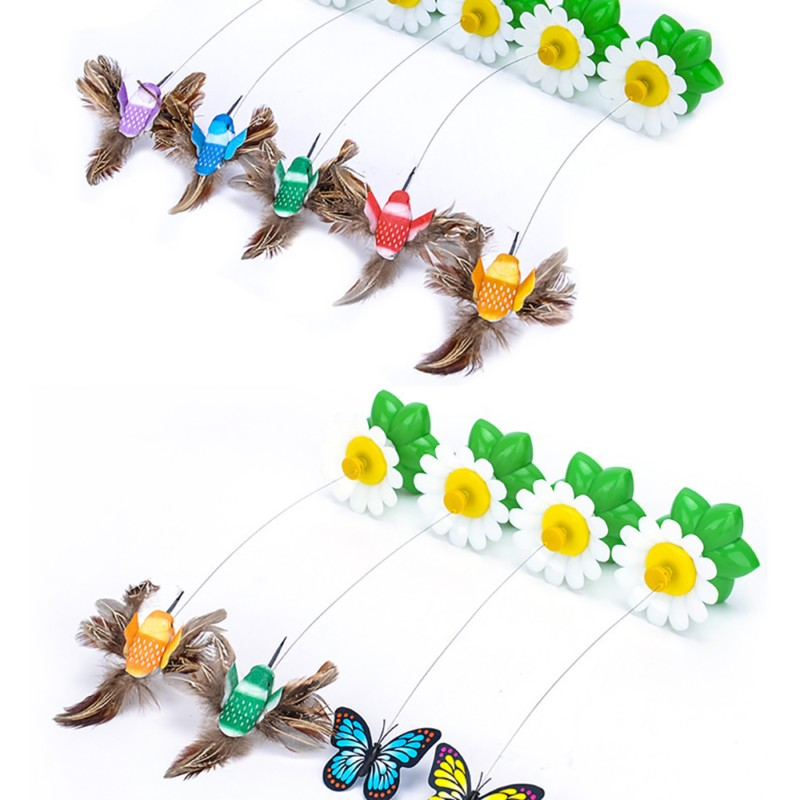 Hot sale Colorful Butterfly Funny dog Cat Toys bird Pet Seat Scratch Toy For Pet dog cats intelligence Training Plastic Cat Toy (6)