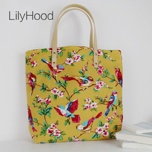 2017 Women Autumn Canvas Big Printing Tote Bags Vintage Large Top Handle Fabric Soft Shopper School Overnight Beach Shoulder Bag