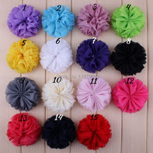 Hair accessories 15 colors Hot Sale Promotion Ballerina Chiffon Flower Unfinished 100pcs/lot Freeshipping DMF-002(China)