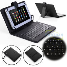 "Universal PU Leather Stand Case Cover with USB Keyboard +Pen For 10.1"" VISUAL LAND PRESTIGE ELITE 10Q Tablet(China)"