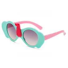 Kid's Sunglasses Fashion Lovely colorful frame cartoon elephant Plastic Coating Lens Baby Girl's Goggle eyewear for children