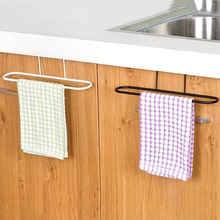 Metal Towel Bar Holder Over the Kitchen Cabinet Cupboard Door Hanging Rack Storage Holders Accessories C