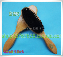 Free shipping wood handle pig hair pig bristle made Shoe polish brush shoe brush