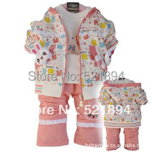 new 2014 baby girl rabbit letter hoodie T-shirt pants clothing sets kids clothes sets baby outfits infant apparel