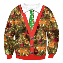 Fashion Santa Claus Xmas Tree Reindeer Patterned Sweater Christmas Sweaters For Men Women Unisex Pullovers Vintage Sweater
