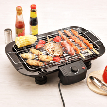 Household Electric Barbecue Grill Cooking Broiler Garden Black Smokeless BBQ Indoor Grill Electric Pan Grill BBQ Grill(China)