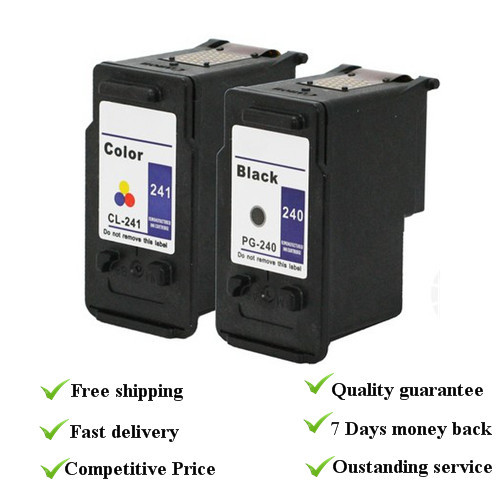 Remanufactured ink cartridge  1 set  suit for canon PG240 cl 241  with dye ink, 100% quality guarantee<br><br>Aliexpress