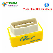 Viecar Elm327 Bluetooth ELM 327 OBD2 OBDII Adaptor Scanner for Android Code Reader Diagnostic Tool New Product VC001-A