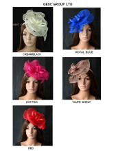 New Wholesale Sinamay Fascinator hat for Melbourne cup,Ascot races wedding kentucky derby.red,ivory/black,coffee,royal,coral,