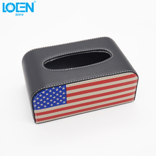 British American Style Personality Car Rectangle Shaped Clamshell Tissue Boxes Case Box Container Towel Napkin Papers(China)