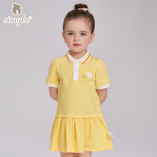 Girl Summer Preppy Dresses kid's tennis Girls's Candy Color Dresses for school 2017 New Kids Children sport clothing