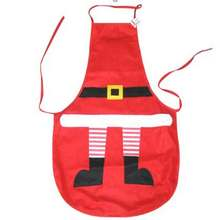 1Pc Christmas Apron Santa Claus Skin Feet Pattern Decorative Cloth for Women Men Table Dinner Party Cooking New Year decor(China)