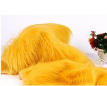 18 colors Luxury long hair faux fur fabric plush toy fabric 100x150cm(China)