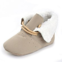 Sweet Baby Girls Winter Boots Fashion Snow Boots Soft Infant Wool First Walkers Baby Warm Boots Non-slip Boots For Princess Babe