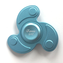 Free Logo Printing personalized Novelty Hurrican Shape Fidget Hand Spinner Man gift favour present souvenir Blue Color