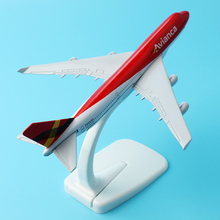 Collectible Airplane Model 16cm Passenger Plane Model Boeing 747-400 HK-4623 Colombia Airplane Diecast Model Aircraft Kids Toys(China)