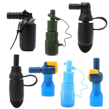 2017 Black/Blue Color Outdoor Water Bags Silicone 90 Degree Straight Hydration Pack Suction Nozzle Bite Valve Camping
