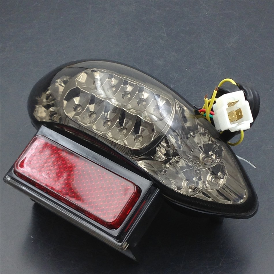 Aftermarket Motorcycle PartsLED Tail Light for   GSX1300R Hayabusa Katana GSX 600 750 GSX750F SMOKE<br>