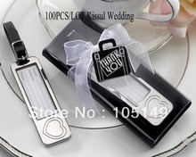 (100 pieces/lot) Classy Wedding favors of Silver Heart Luggage Tags For Wedding celebration and Party Favors wedding souvenirs