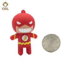 Cartoon Hero USB Flash Drive Light Man Pen Drive 4GB 8GB 16GB 32GB 64GB 128GB Pendrive Toy USB Stick Personalized Mini USB Key(China)