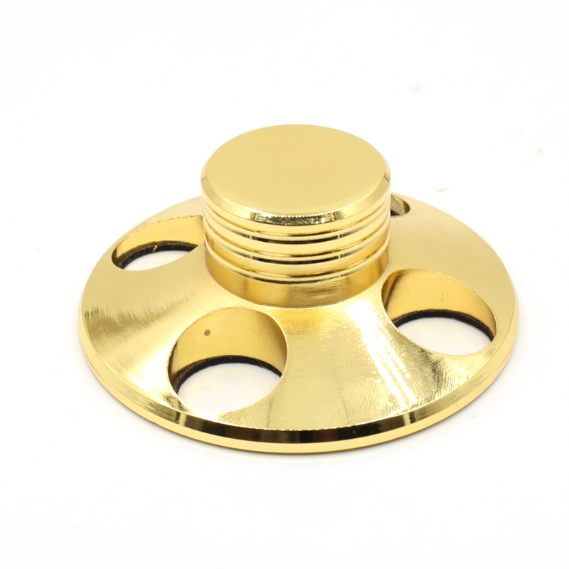 Free shipping one piece Gold plated HiFi Record Player Weight LP Disc Stabilizer Turntable Vinyl Clamp<br>