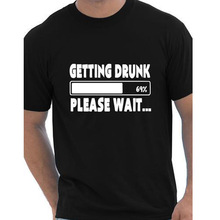 Getting Drunk 69% please wait Beer Stag Party Gift Funny Mens T Shirt More Size and Colors european size cotton