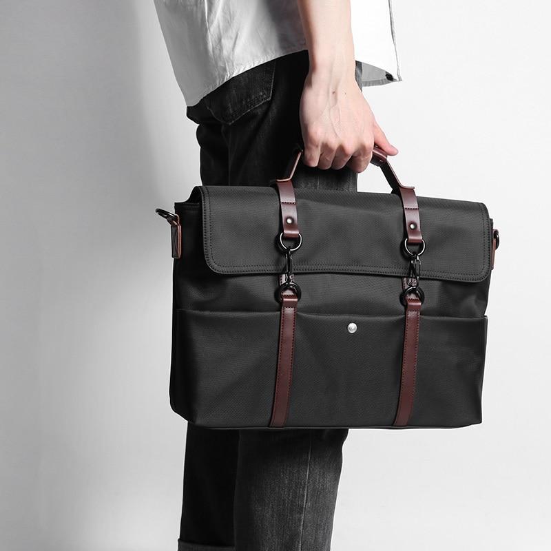D-park Portable KUMON Waterproof Laptop Briefcase Fashion Business Men Handbags Crossbody Bag Mens Travel Bags<br>